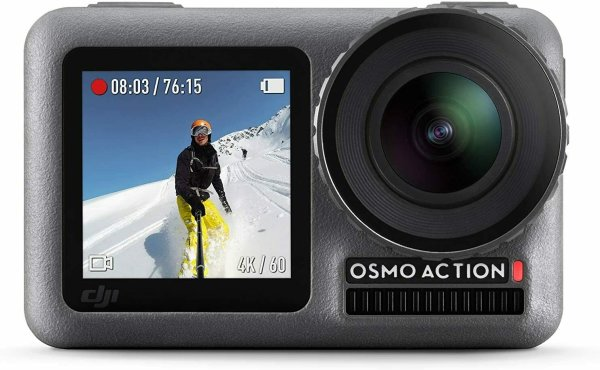 DJI Osmo Action Cam Digitale Actionkamera mit 2 Bildschirmen 11m wasserdicht 4K