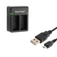 Blumax Dual Ladegerät für Sport Camera Qumox...
