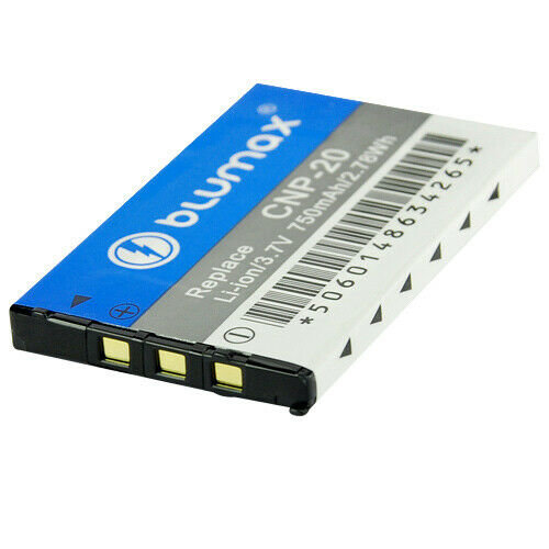 Original Blumax Akku für Casio NP-20 NP20 EX-S880, EX-Z3, EX-Z4, EX-Z5, EX-Z6
